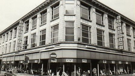 The Debenhams store in Yarmouth town centre in 1985, the year it closed.