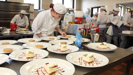 The Ambitions restaurant at Yarmouth College which is closing Picture: supplied
