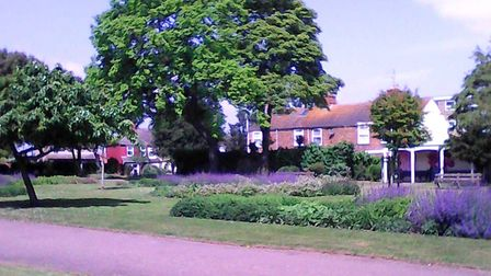The tranquil Priory Gardens in Gorleston, close to a private preparatory school where a corresponden