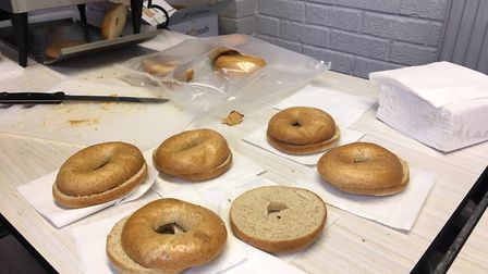 The school offers pupils free bagels before lessons. Picture: Joseph Norton