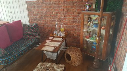 The Darling Darlings Cat Cafe has a retro theme to aid reminiscence Picture: Liz Coates