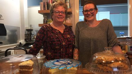 Diane Syrett, left, with her daughter Sam Osborne who owns Mocha café in Regent Street, Great Yarmou