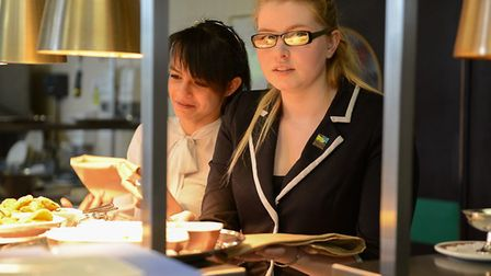 Sammie Sparrow during a service at Ambitions training restaurant. The 24-year-old kitchen manager ha