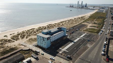 Drone shots of the new seafront Premier Inn at Great Yarmouth's South Denes Picture: Premier Inn