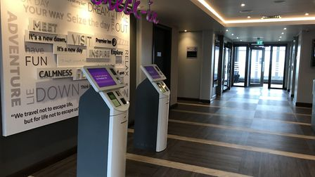 The reception area at the new Premier Inn on Great Yarmouth seafront which is the first build on The