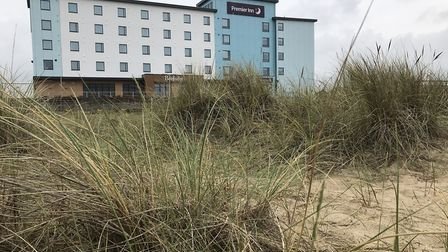 Sea views from the new Premier Inn on Great Yarmouth seafront- the first building in a multi-million