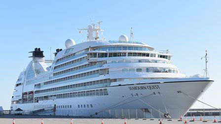 The Seabourn Quest docked at the Outer Harbour in Great Yarmouth. Picture: James Bass.