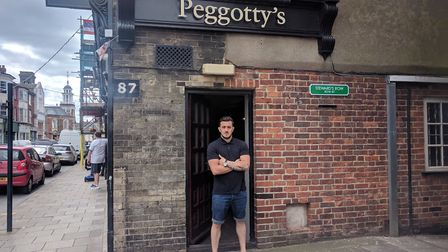 Blendi Kellici, 30, new landlord of Peggotty's, a popular pub in Great Yarmouth. Picture: Daniel Hic