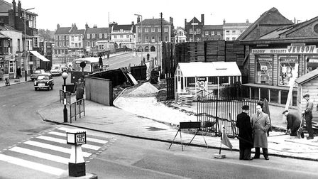 Road improvements when Jewson's builders merchants traded on Yarmouth's Southtown Road corner, perha