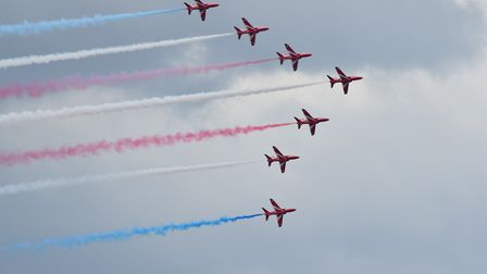 Red Arrows At Great Yarmouth Air Show