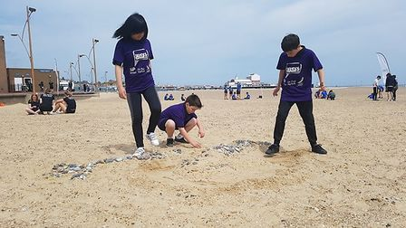 More than 100 kids take to Great Yarmouth beach to compete in the Secondary Alternative Sports Day.
