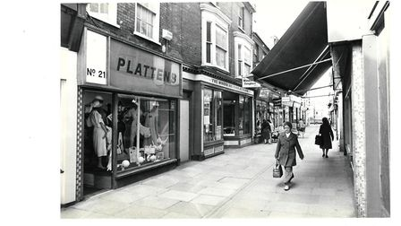 Plattens, Broad Row, Great Yarmouth in the 1980s.