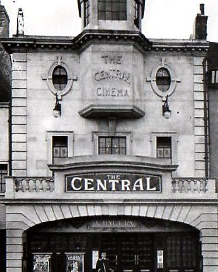 The long-gone Plaza Cinema on the Market Place pre-war. The empty premises were occupied by bombed-o