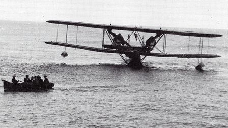 Planes? Rowing and motor boats did a roaring trade locally, taking sightseers out to admire this fly