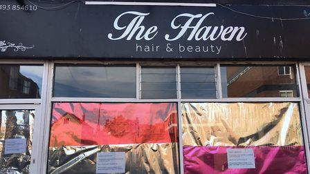 The salon in Regent Street, Great Yarmouth, closed on Tuesday. Picture: Joseph Norton