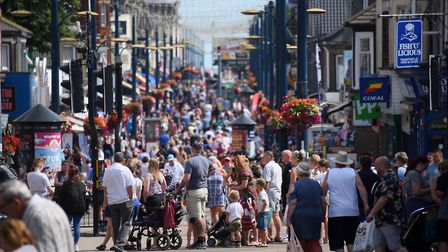 Busy Regent Street in Great Yarmouth as people enjoy the summer in the town. Picture: DENISE BRADLEY