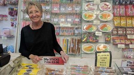 Janet Docwra, manager of the famous rock shop on Regent Road in Great Yarmouth. Picture: Daniel Hick