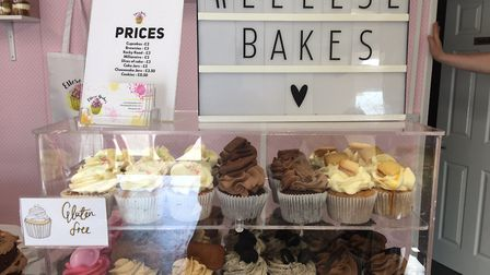 The shop sells a variety of sweet treats including personalised brownies and cupcakes. Picture: Jose
