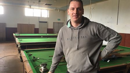 Bradley Fish at the former Conservative Club in Great Yarmouth. He is in the process of transforming