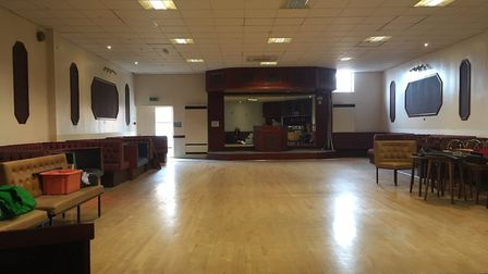 The large, sprung dance floor which Bradley Fish says is the 'jewel in the crown' of his new sports