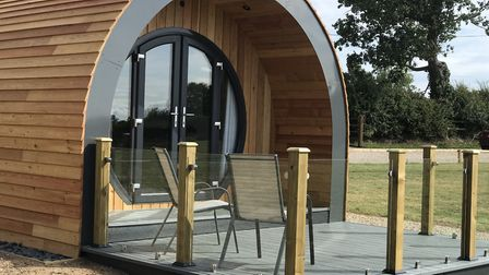 One of the new glamping pods in Runham Picture: Victoria Pertusa