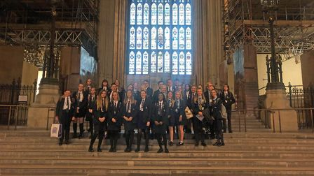 Schoolchildren from Great Yarmouth borough visited Westminster after taking part in a debating compe