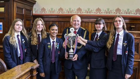 Schoolchildren from Lynn Grove Academy took part in a debating competition. Picture: Great Yarmouth