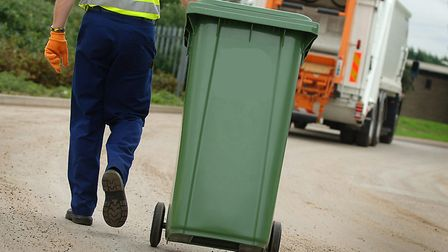 A refuse collector in Norfolk. Picture: Ian Burt.