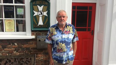 Barry Austin, 69, owns and runs the St John's Head pub on North Quay in Great Yarmouth. Picture: Dan