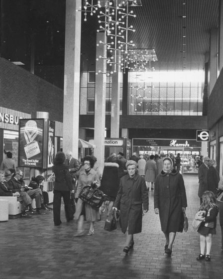 Shoppers in the Market Gates Shopping Centre in May 1978.
