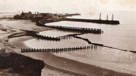 How it once looked: Gorleston beach, breakwater and pier in 1887.