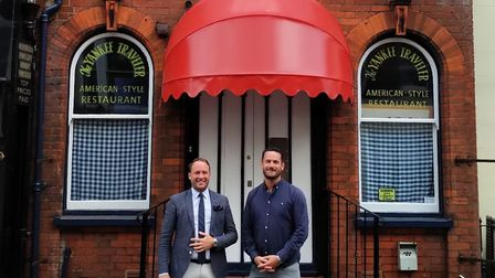 New owners of the former Yankee Traveller building Oliver Hurren and Charles Thurston. Picture: Oliv