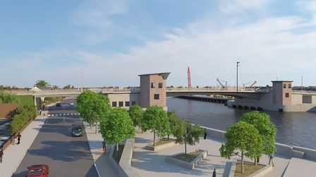 New image showing Great Yarmouth's third river crossing showing the control towers Picture: Norfolk