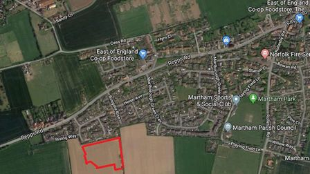 Martham residents are invited to a meeting about the development south of Repps Lane on October 10.