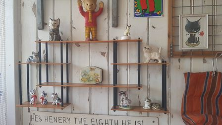 The Rupert Bear ornament in Darling Darlings cat lounge, Great Yarmouth. Picture: Liz Coates