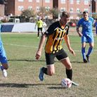 Tom Hunter made it three goals in two games for the Bloaters Picture: STEVE WOOD
