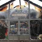The fire at the entrance of Hopton holiday park's main complex was caused by an electrical fault. Pi