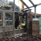 A fire has ripped through the entrance of Haven's Hopton holiday park's main complex. Picture: Ella
