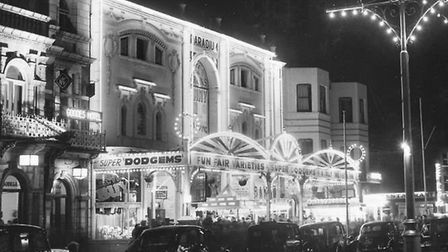 The irresistible bright lights of Barrons' Paradium amusement arcade on the Golden Mile in the 1960s