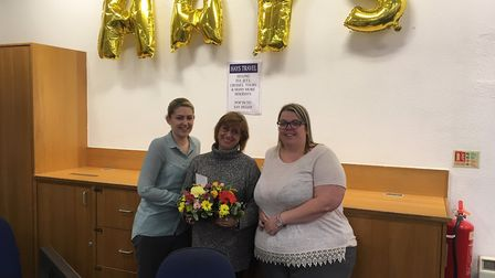 Former Thomas Cook staff Natasha Woodrow, Paula Lusher, and Clare Thompson are back at work in Palme