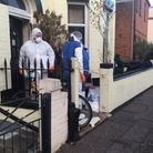 Flashback to November last year, when forensics investigators combed the scene in South Market Road