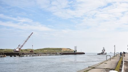 Great Yarmouth Outer Harbour. Picture : ANTONY KELLY