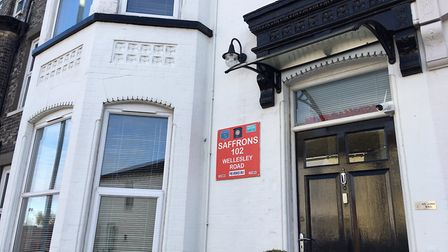 The building where Saffrons Guest House in Great Yarmouth was ran from is set to be put up for sale.