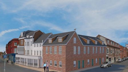 An image showing what is being proposed for Market Row/Howard Street in Great Yarmouth Picture: Rich
