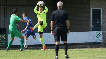 Elvijs Putnins was in good form for Great Yarmouth Town Picture: Shirley D Whitlow