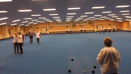 The indoor bowls green at Browston Hall closed 18 months ago. Picture: Jon Carter