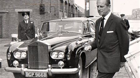 Prince Philip in the borough in 1979, possibly to open the new Pilot Station in Gorleston.