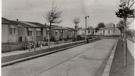 Prefabricated homes on the Shrublands estate in Gorleston. Yarmouth council was praised for its prov