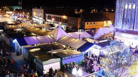 Flashback: Great Yarmouth Market Place on the evening of the towns annual Christmas Lights switch on