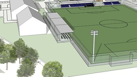 The plans also include a state-of-the-art clubhouse and a 3G artificial pitch Picture: Gorleston FC